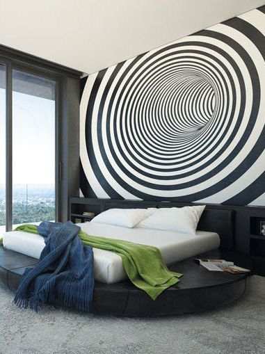 Large Funky Down The Plug Hole Pattern Photo Wallpaper Wall Mural For Living Room Decals