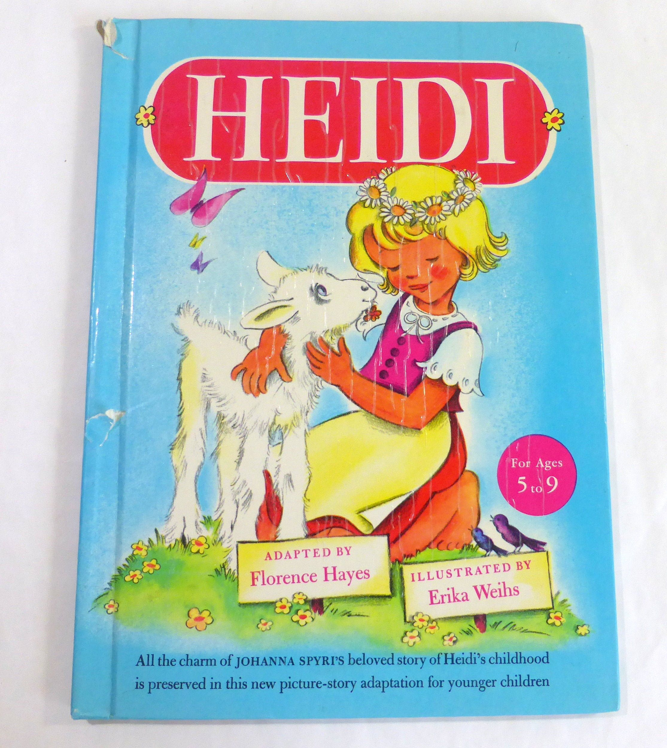 Vintage Heidi Johanna Spyri 1946 Random House Adapted By Etsy Bedtime Story Book Picture Classic A New Home Paraphrased From