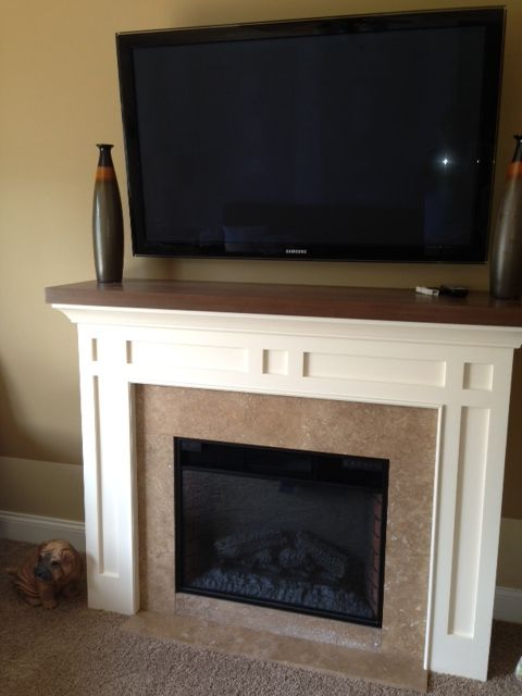 28 Classic Flame Electric Fireplace With Custom Cabinet And