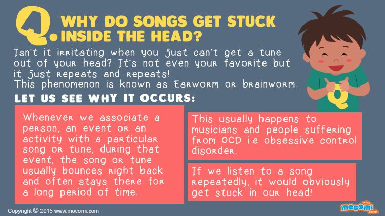 Why do songs get stuck inside the head? - Answer Me | Mocomi Kids | Songs,  Stuck inside, Kids