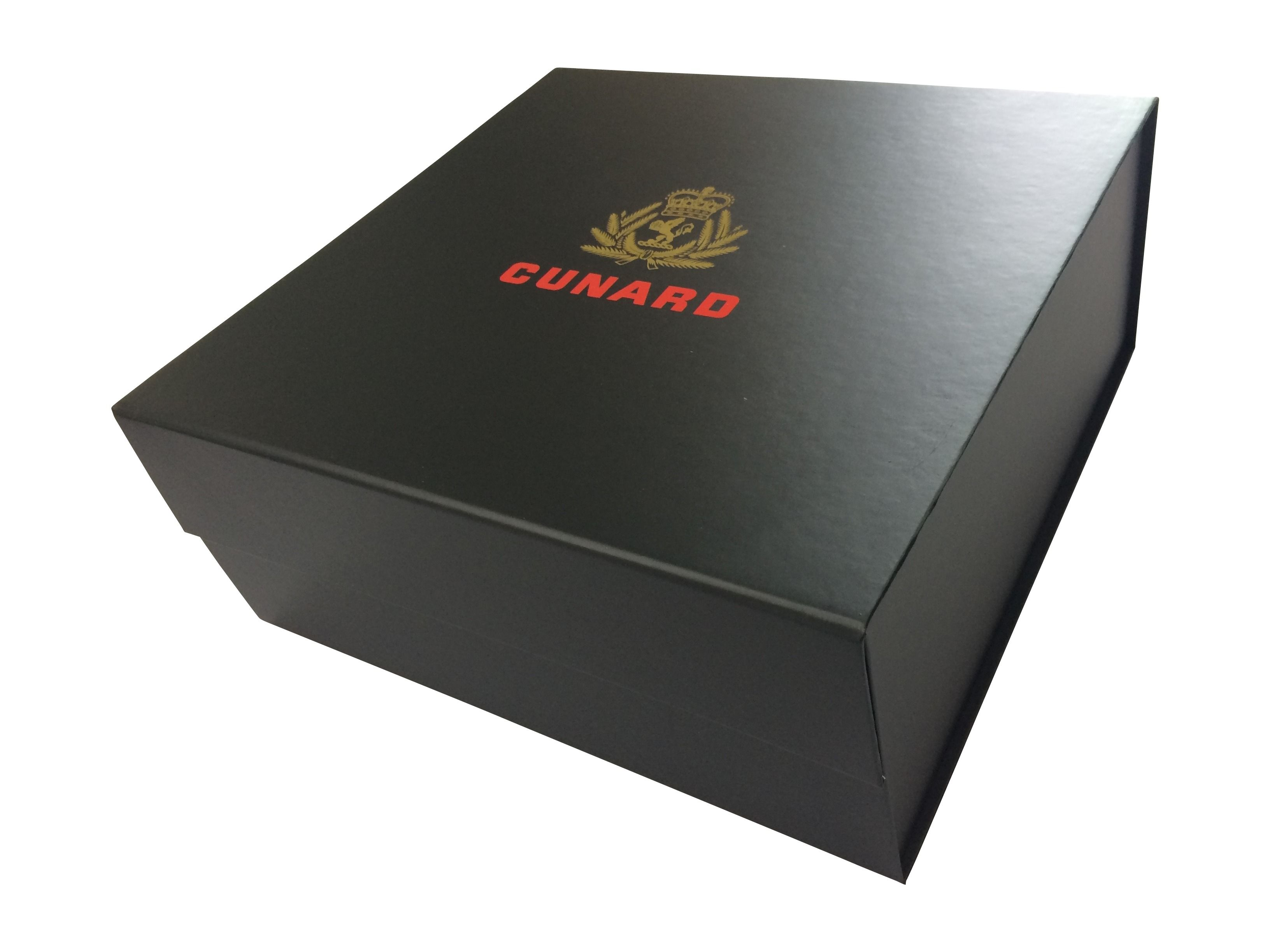 Branded Gift Box Bespoke Rigid Box With Magnetic Close Gold Foil