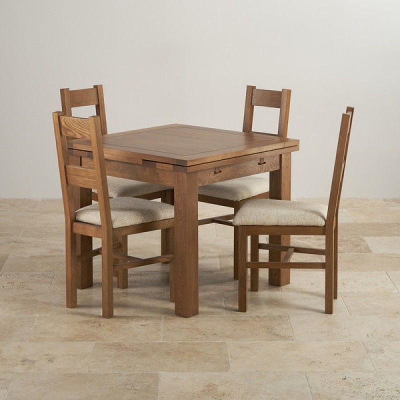 Rustic Real Oak Dining Set 3ft