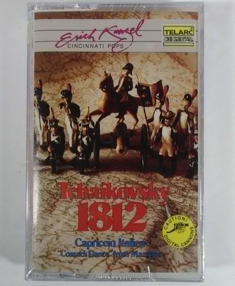 Tchaikovsky 1812 Overture Capriccio Italien Erich Kunzel Cassette Telarc Capriceoverture Vintage Music Music Cassette Book Cover