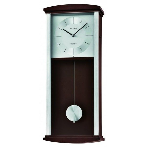 Seiko Clock Rothesay Contemporary Wall Clock Qxm555blh 2 010 Hrk Liked On Polyvore Featuring Home Pendulum Wall Clock Wall Clock Contemporary Wall Clock
