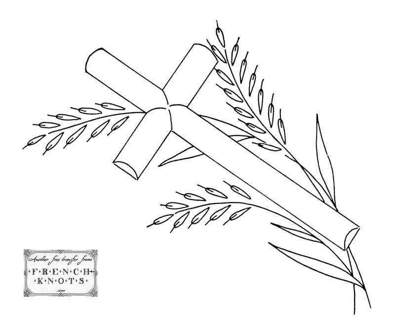 free Religious Crosses Embroidery Transfer Patterns