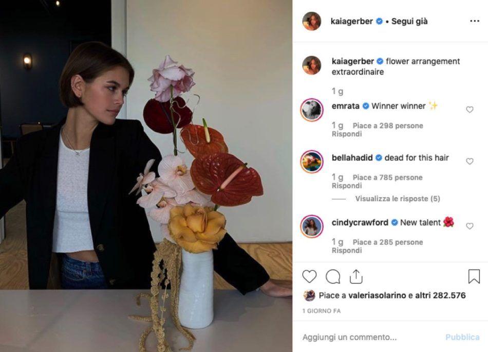 A-line pixie, il taglio cortissimo di Kaia Gerber per chiudere il 2019 – VanityFair.it