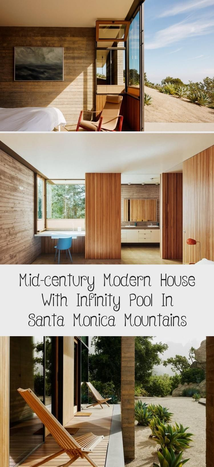 Mid Century Modern House With Infinity Pool In Santa Monica