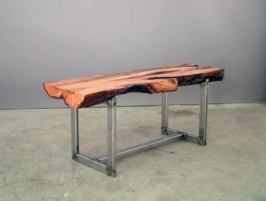 #tree #stem #table #wood #slab #modern #interiors