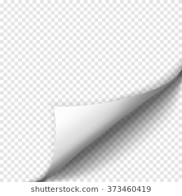 Page Curl With Shadow On Blank Sheet Of Paper Sheet Of Paper Shadow Royalty Free