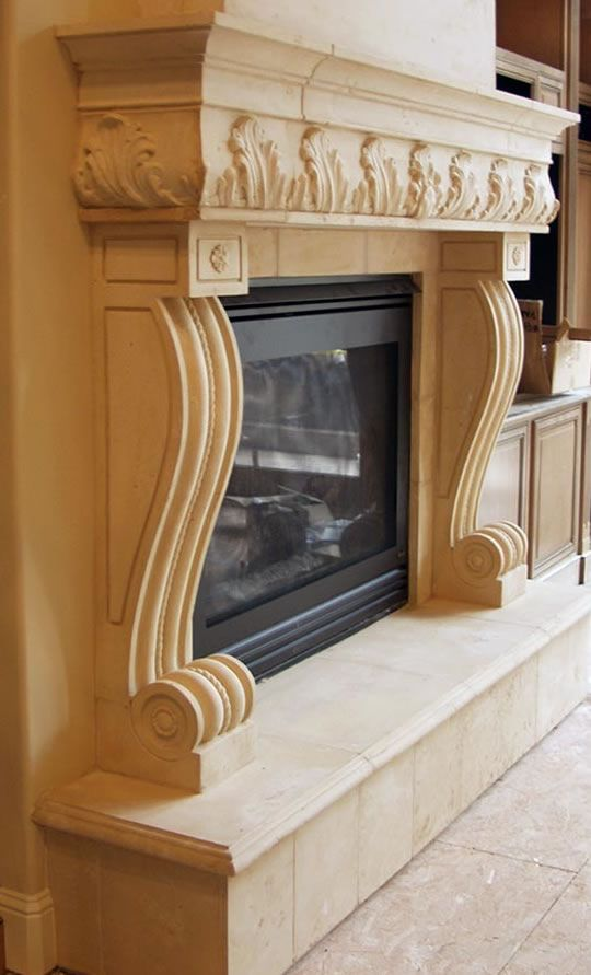 Naples Sandstone Fireplace Surround   French Fireplace Mantels   Cast stone  fireplace, Stone fireplace mantel, Fireplace mantels b3230fc55e
