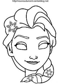 masque reine des neiges d u0027autres modèles sur mon blog http