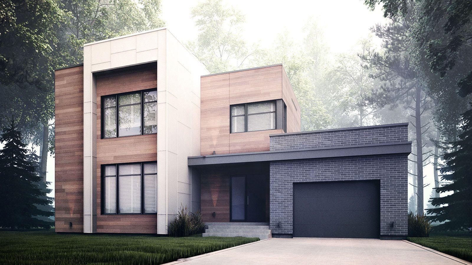 Zone C - Modèle A - Maison contemporaine style cubique | plan maison ...