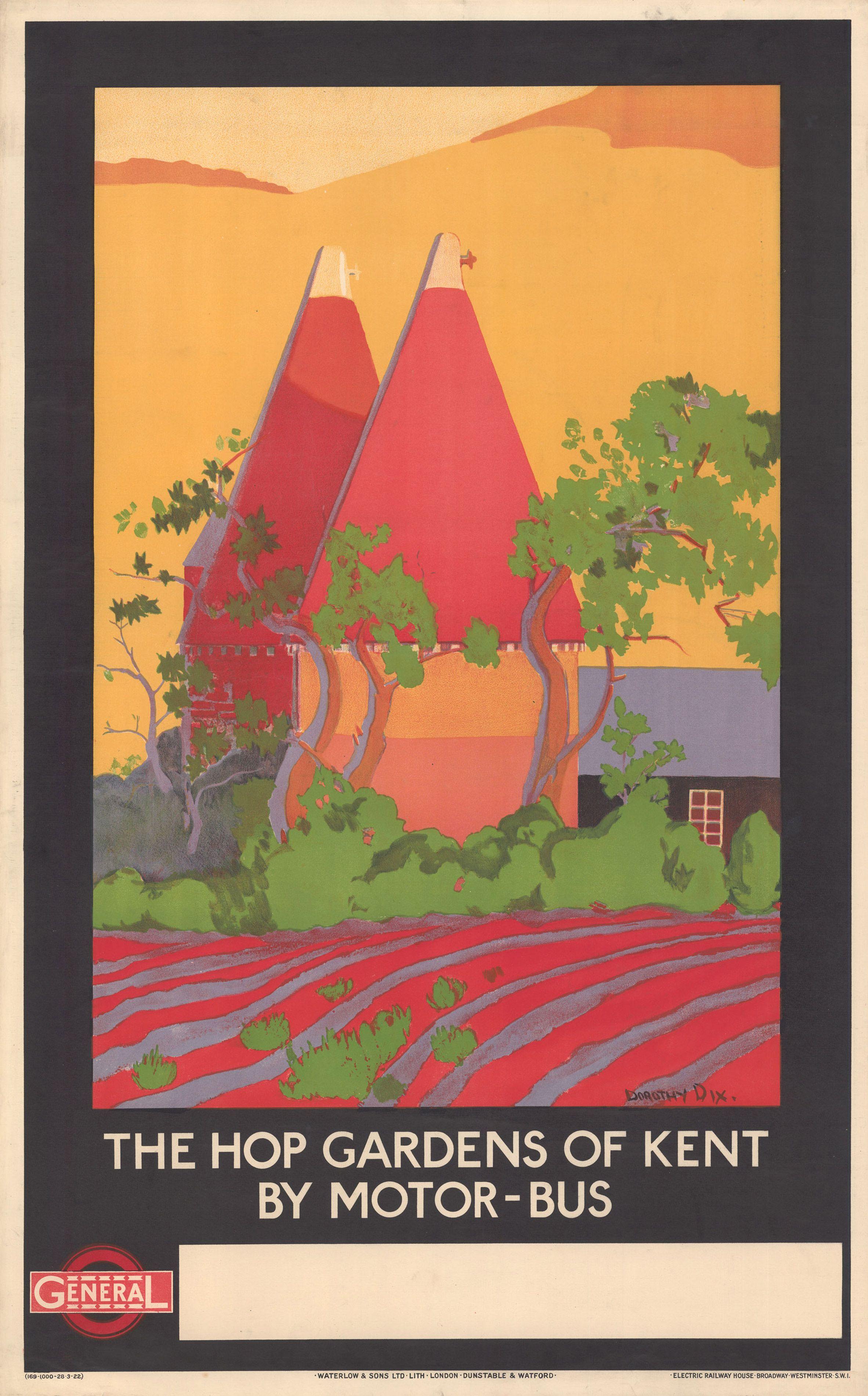 Vintage Watford UK Public Transport Poster A3 Print