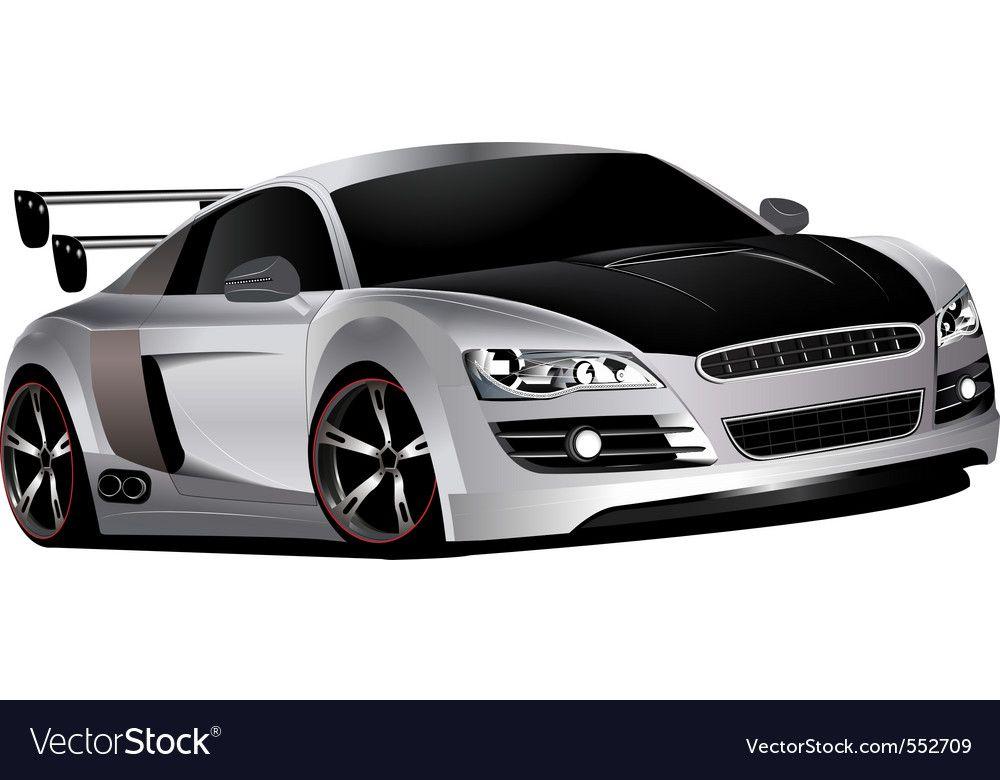 Custom race car Royalty Free Vector Image  VectorStock