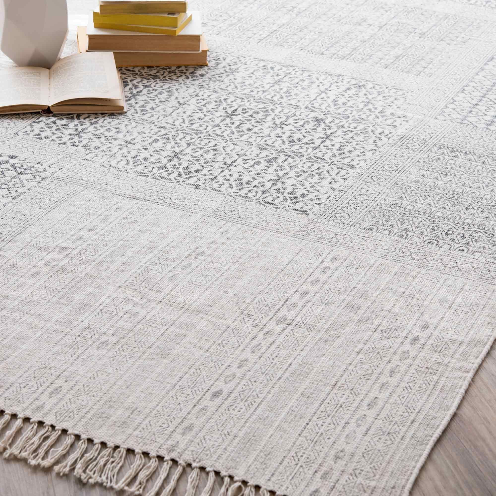 Hellgrauer teppich  Teppich aus Baumwolle, 140 x 200 cm | Teppiche, Baumwolle und ...