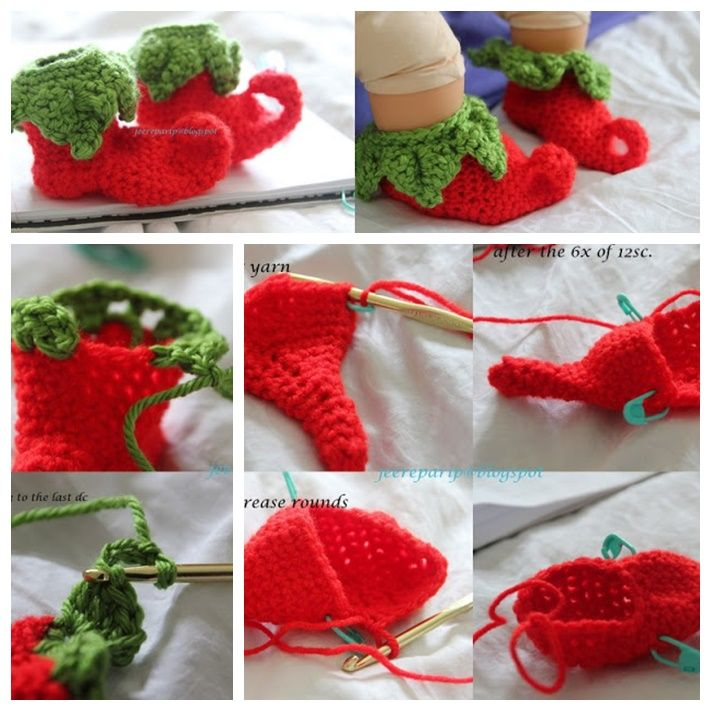 Wonderful DIY Crochet Chili Elf Baby Shoes with Free Pattern ...
