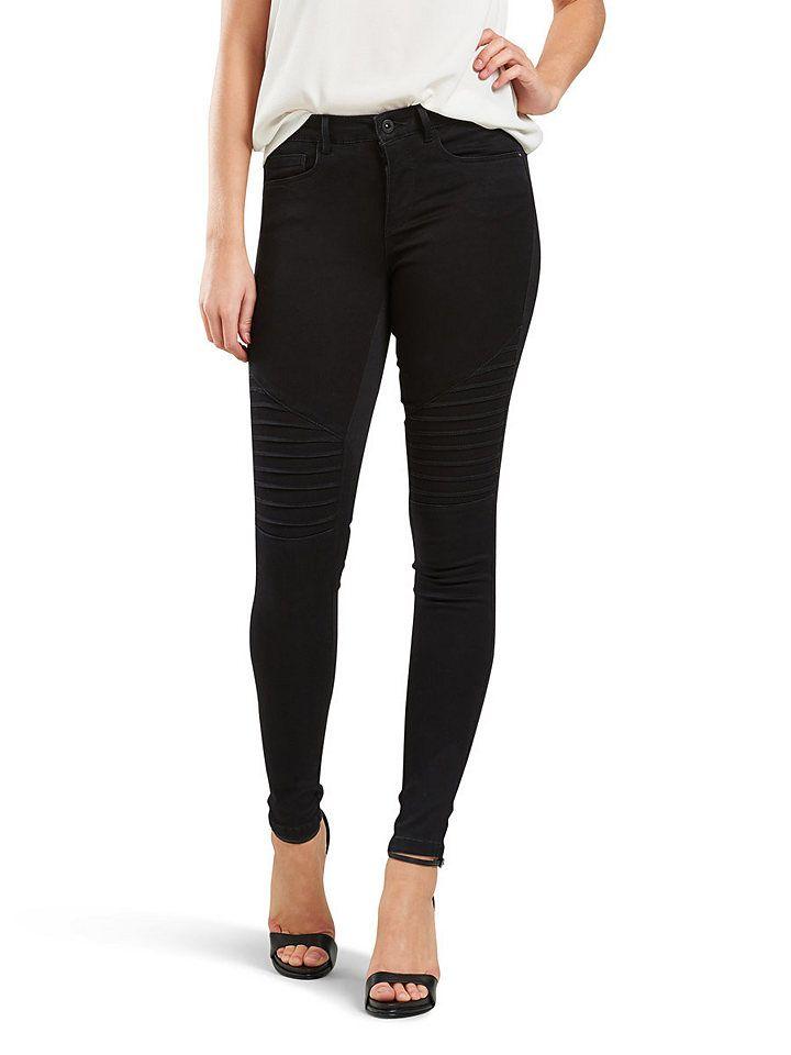 Only Royal Reg Skinny Fit Jeans, Offene Kanten online kaufen
