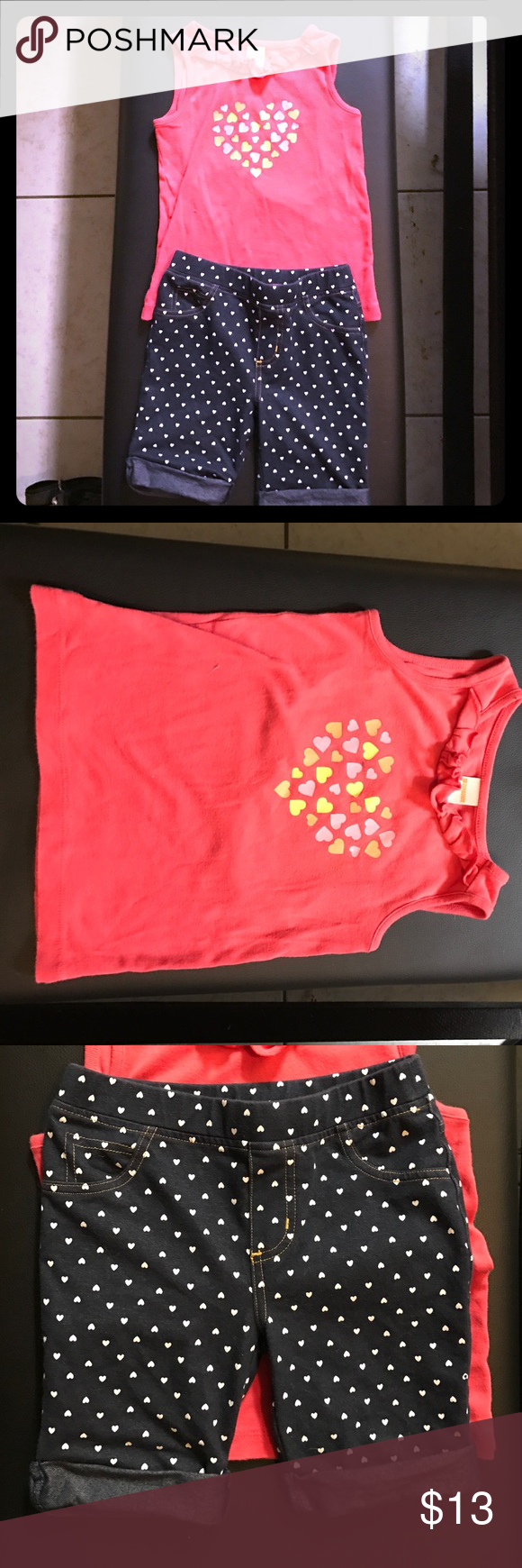 Heart Outfit- Tank top and Shorts Different brands, not a set- just a pair I thought went well together! Top is Gymboree but the shorts are Epic Threads Epic Threads Matching Sets