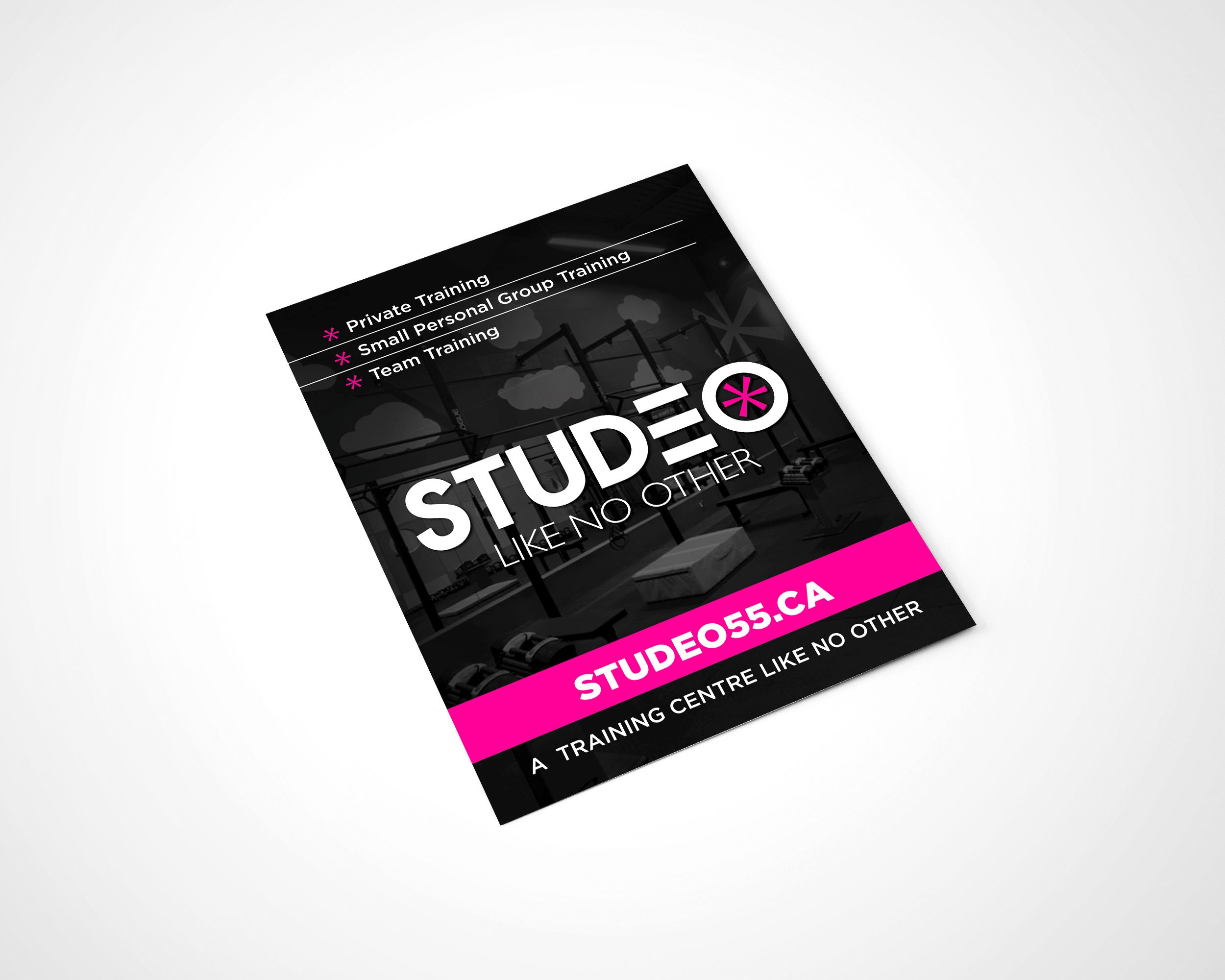Studeo Gyms Vancvouer Marketing Flyer  X Post Card Super