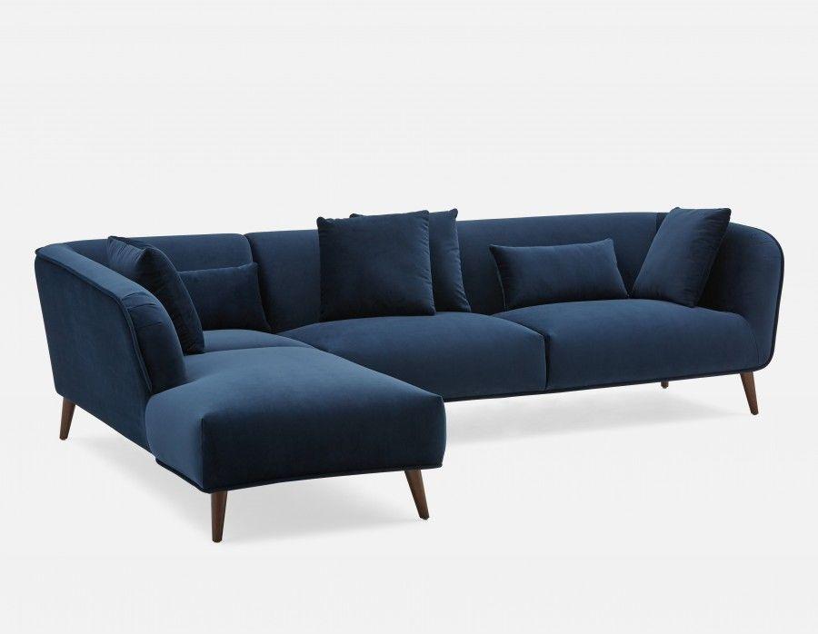 Delano Canape D Angle Cote Gauche Minuit Modern Sofa