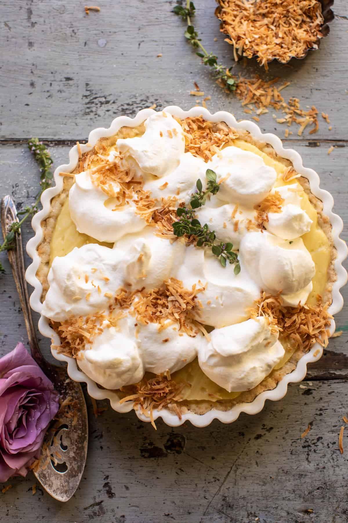 Lemon Sugar Coconut Cream Pie.
