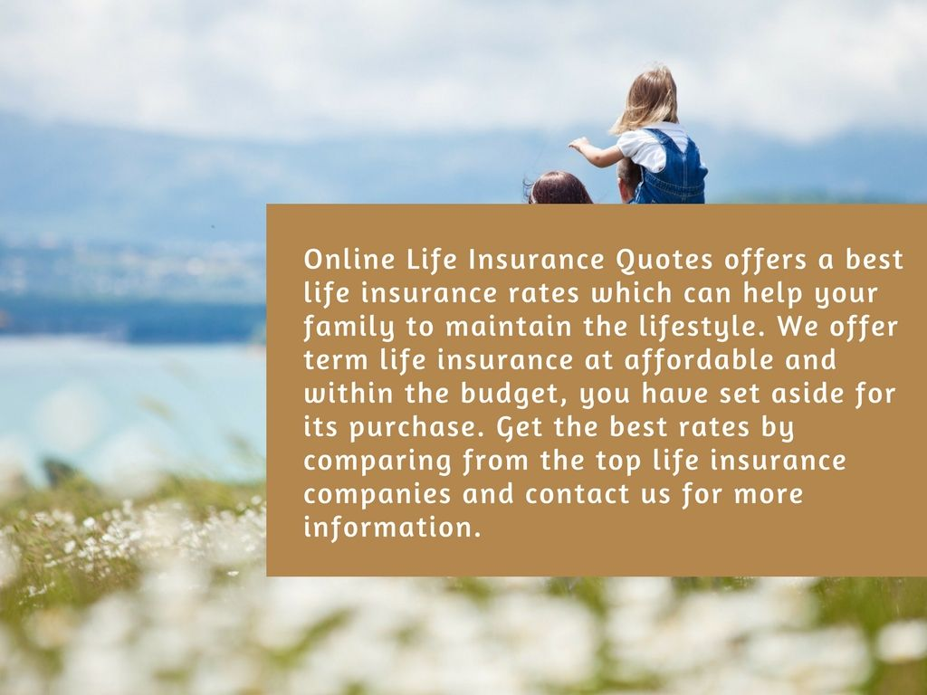 Compare Your #insurance Quotes Today From The Top Life Insurance #companies  And Choose The