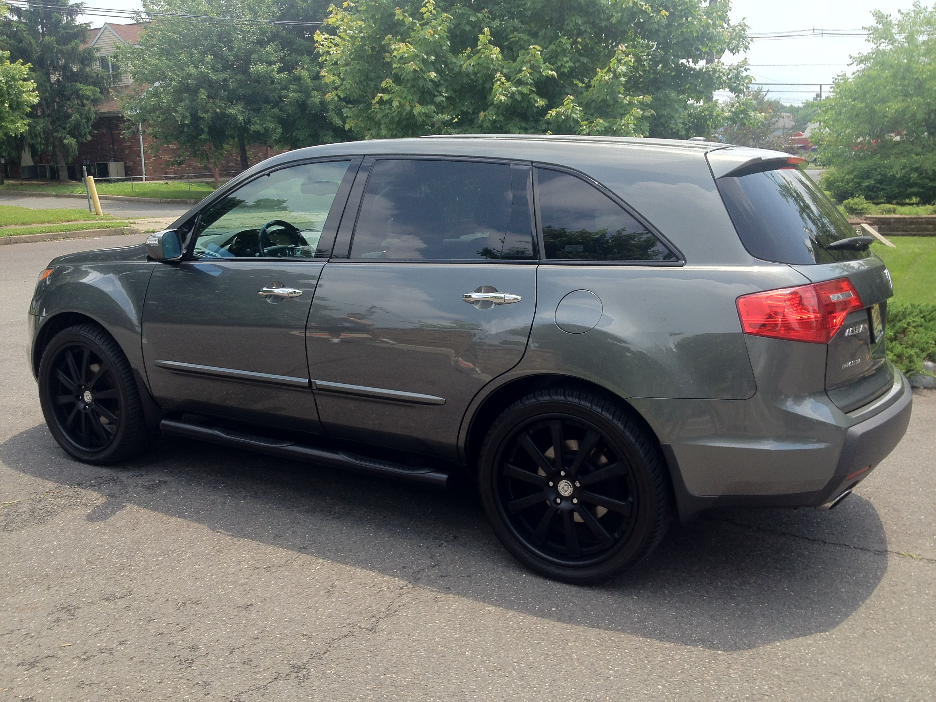 "2008 acura mdx with custom built 22"" hre wheels"