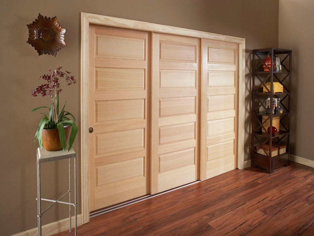 3 Door Sliding Bypass Closet Doors | http://sourceabl.com | Pinterest