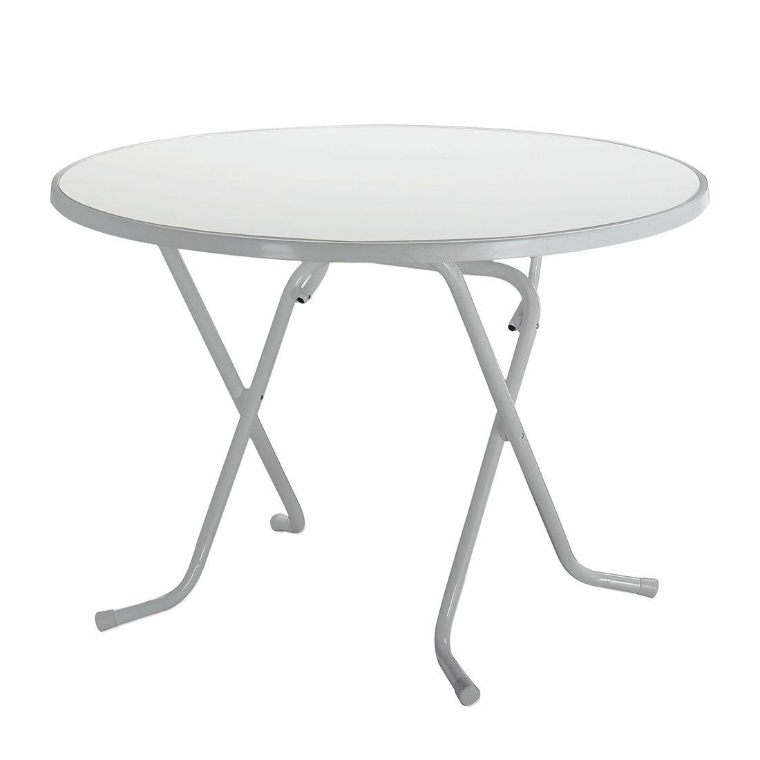 Klapptisch Primo - Stahlrohr Silber - Ø 80 cm, Best Freizeitmöbel ...