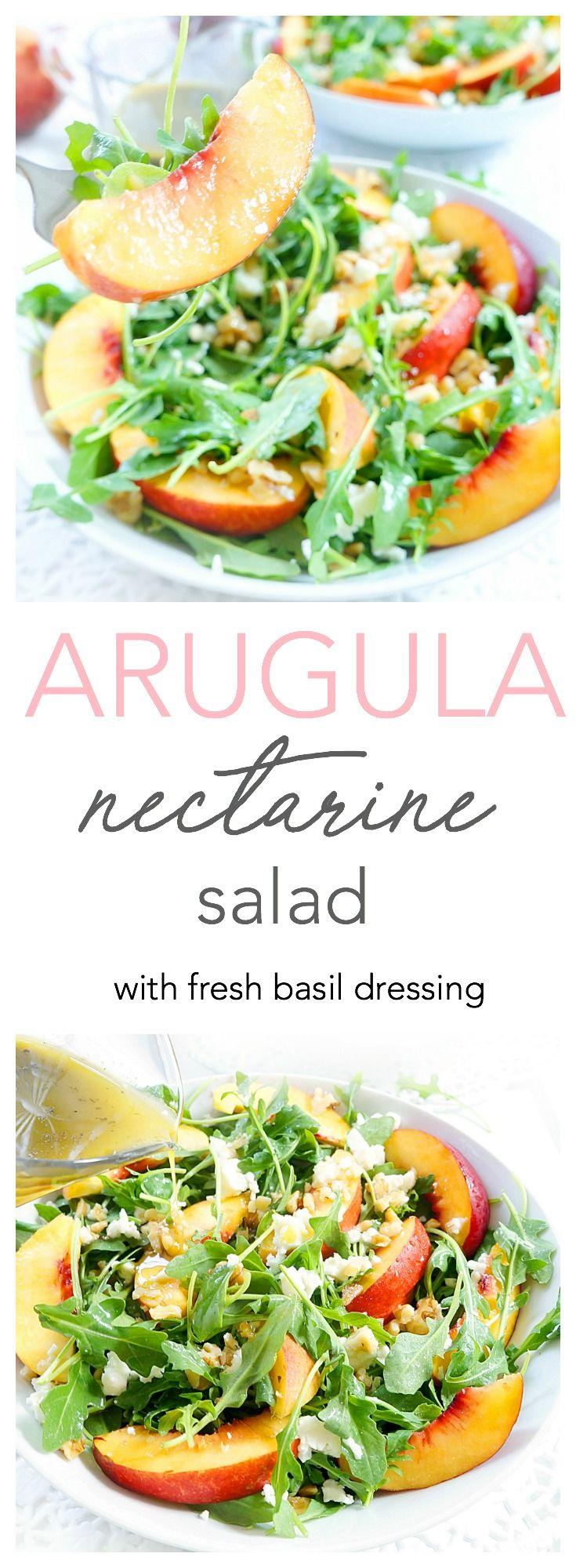 Arugula & Nectarine Salad #healthyliving