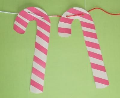 Image result for construction paper candy canes  Art and craft