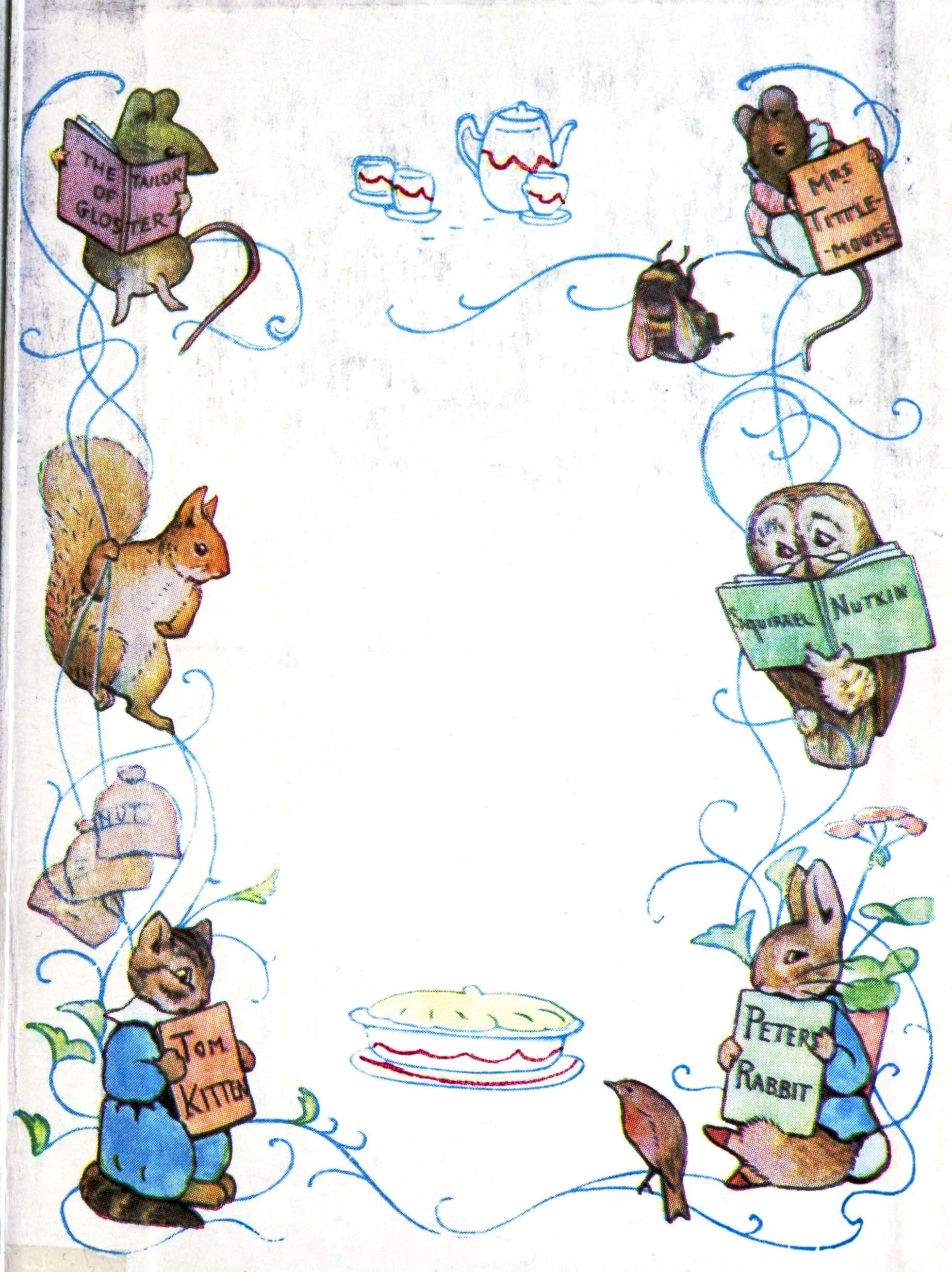 Juvenile beatrix potter page border tom kitten - Peter rabbit nursery border ...