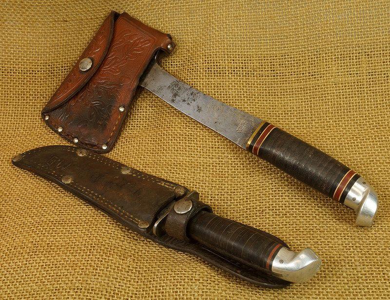 Vintage Western Knife & Hatchet Combo Boulder, Colo. eBay Link: http ...