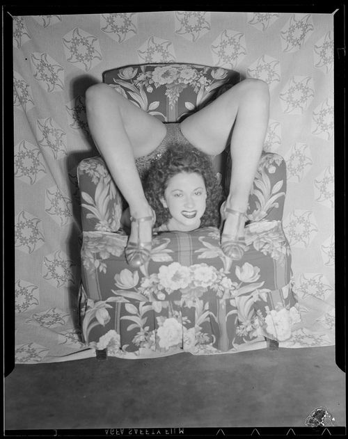 Vintage photo of a contortionist