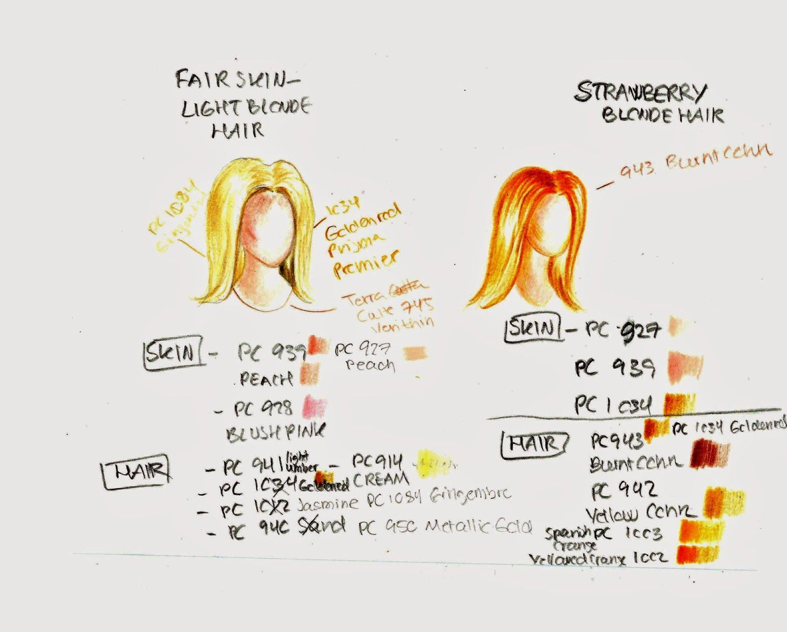 Leticia S Art Blog Prismacolour Colour Pencils How To Draw Blonde Hair Colored Pencils How To Draw Hair Dark Blonde Hair