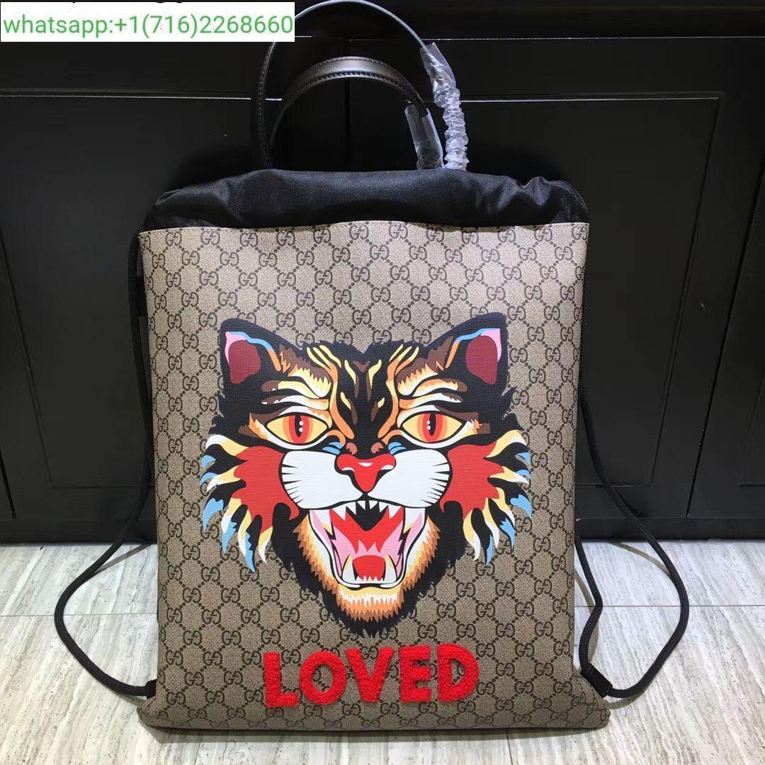 2b0fd821d34 Gucci GG Supreme drawstring backpack