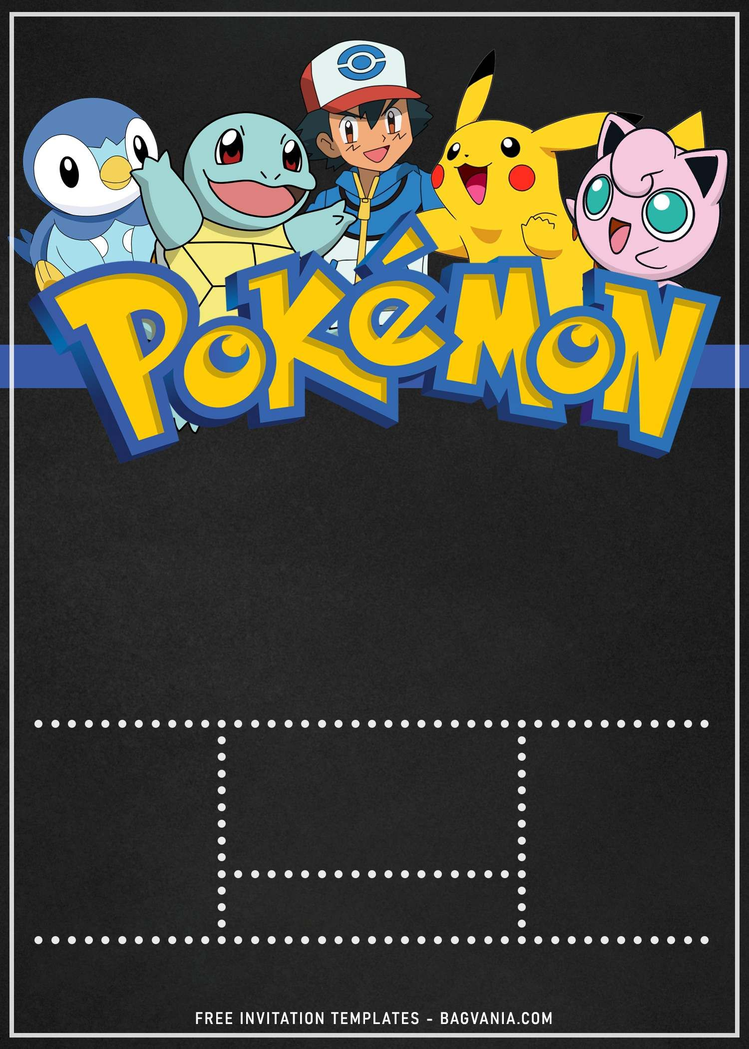11 Awesome Pokemon Chalkboard Invitation Templates For Boys Birthday Party In 2021 Pokemon Party Invitations Pokemon Birthday Invites Pokemon Invitations