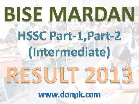 Bise Mardan Board Inter HSSC Part-1, Part-2 Class Result