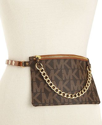 cd371521199d48 MICHAEL Michael Kors Belt, MK Logo Belt Bag - Belts - Handbags &  Accessories - Macy's