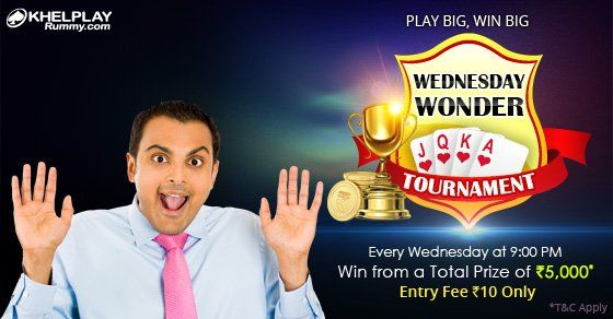 KhelPlay Rummy (@KhelPlayRummy) | Twitter Experience a Wonderful ‪#‎Wednesday‬ tonight! Join & Win from Rs. 5,000*! http://bit.ly/1TvNraQ  ‪#‎PlayRummy‬ ‪#‎Rummy‬ ‪#‎RummyOnline‬ ‪#‎CashGames‬ ‪#‎KhelPlayRummy‬