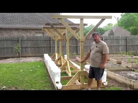 Youtube Gutter Garden Grow System Greenhouse Plans
