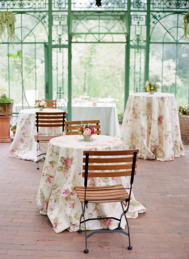 Pretty floral table cloths