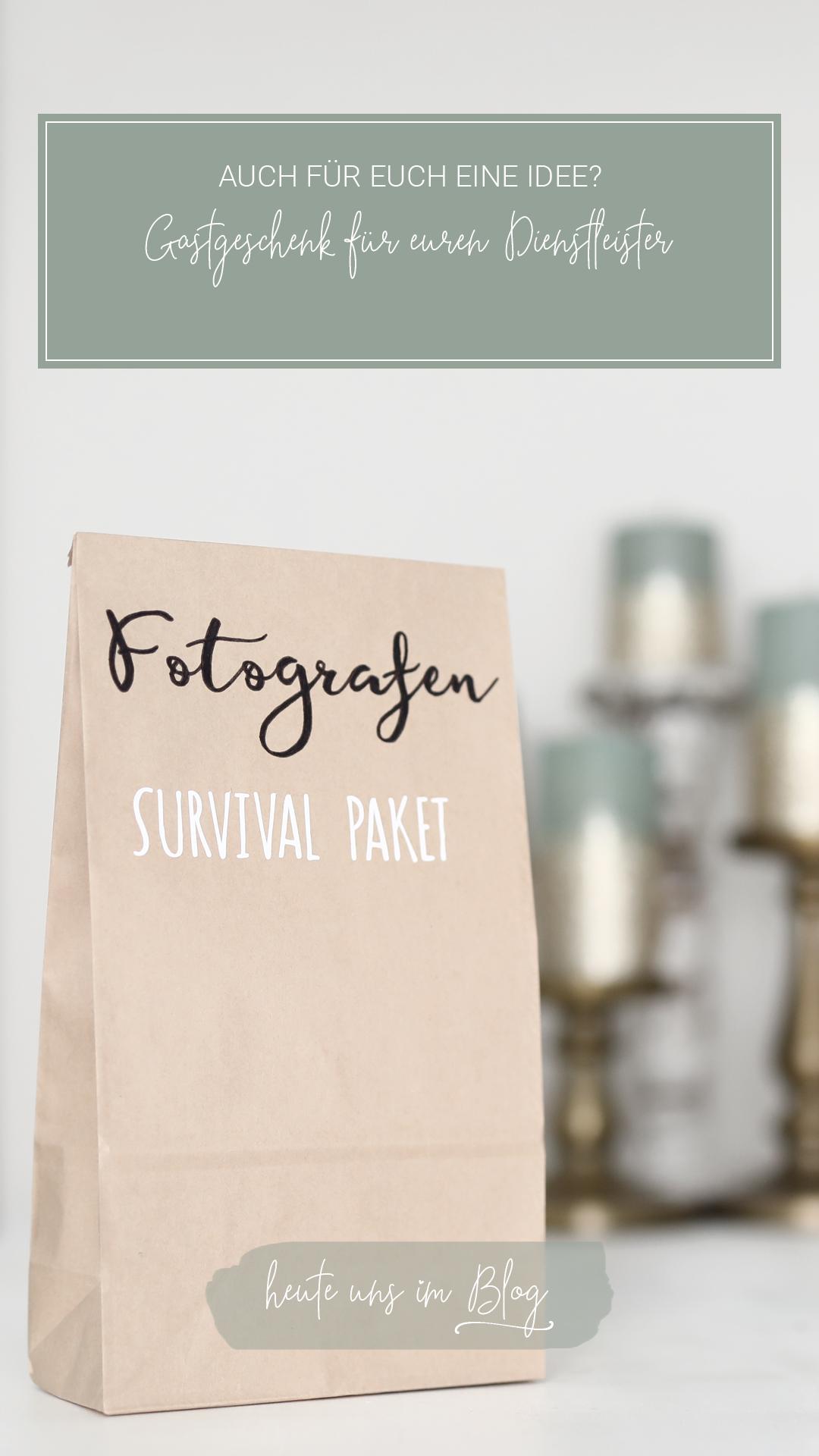 Fotografen Survival Paket: Gastgeschenk für euren Dienstleister
