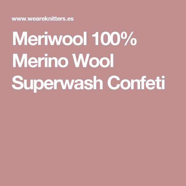 Meriwool 100% Merino Wool Superwash Confeti