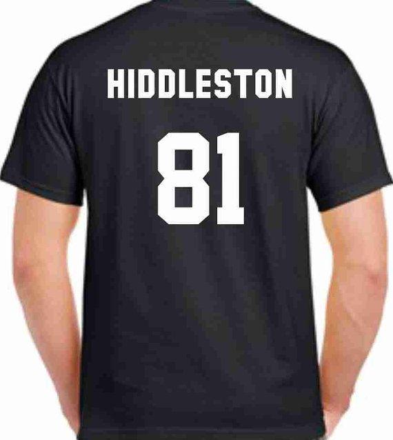Tom Hiddleston 81 Printed Back Unisex TShirt by CrazyPrintsL, £9.99