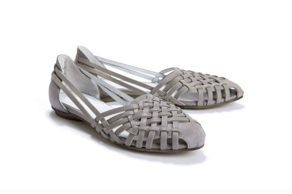 7fe16c125c23 WANT these! Womens Grey Woven Flat by OliveThomasShoes