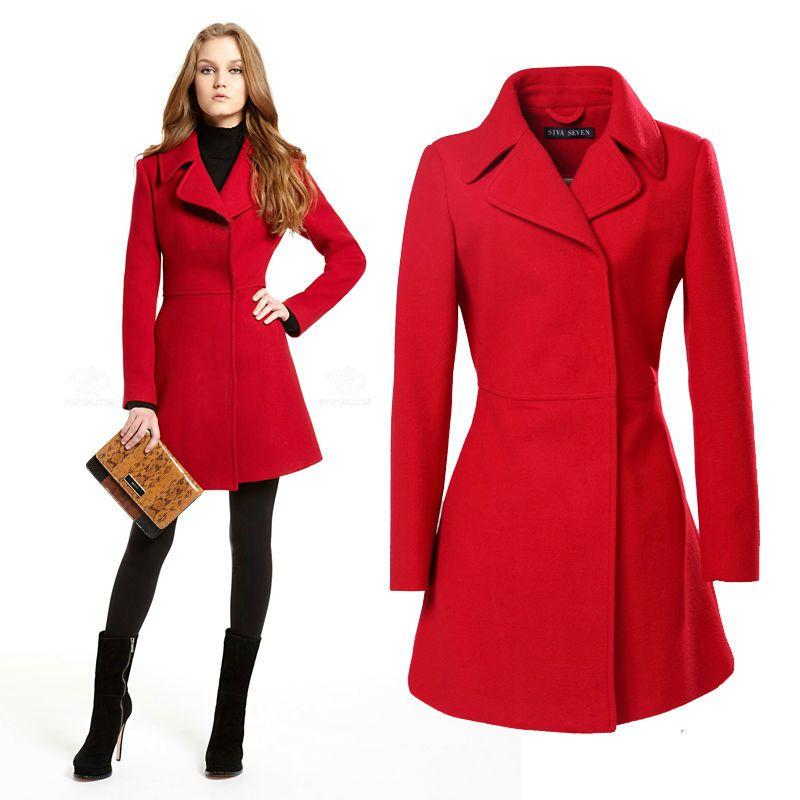 2014 New Winter Coat Woolen Coat Girls Long European And American ...