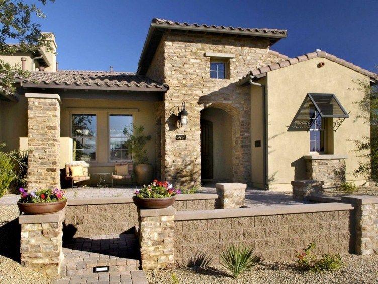 Casas de campo con piedra fachadas de casas mexicanas en - Casas de piedra rusticas ...