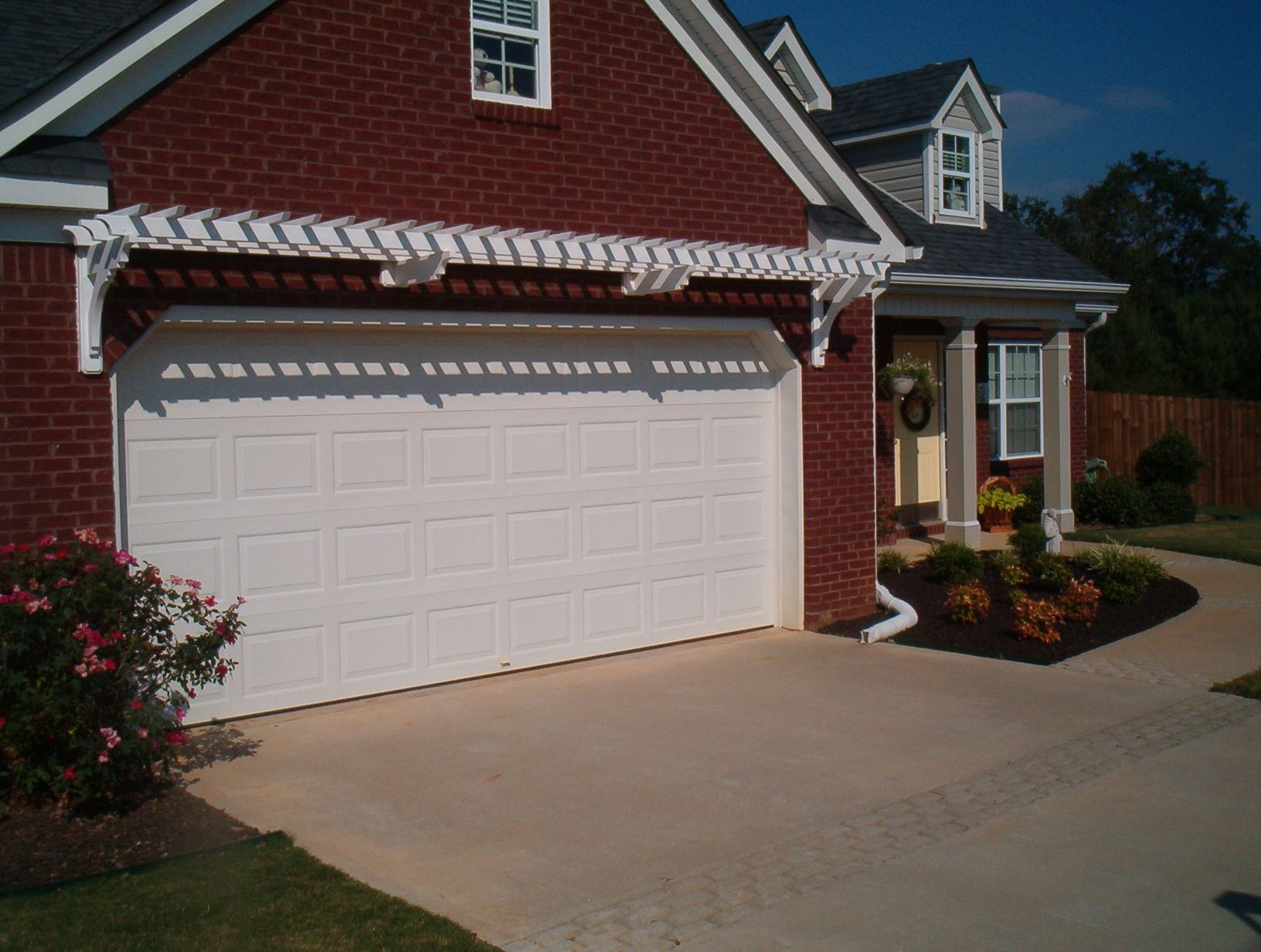 Wonderful Garage Door Trellis Or Arbor. A Frame Garage Front. Garage Arbor Before  After Garage Arbor
