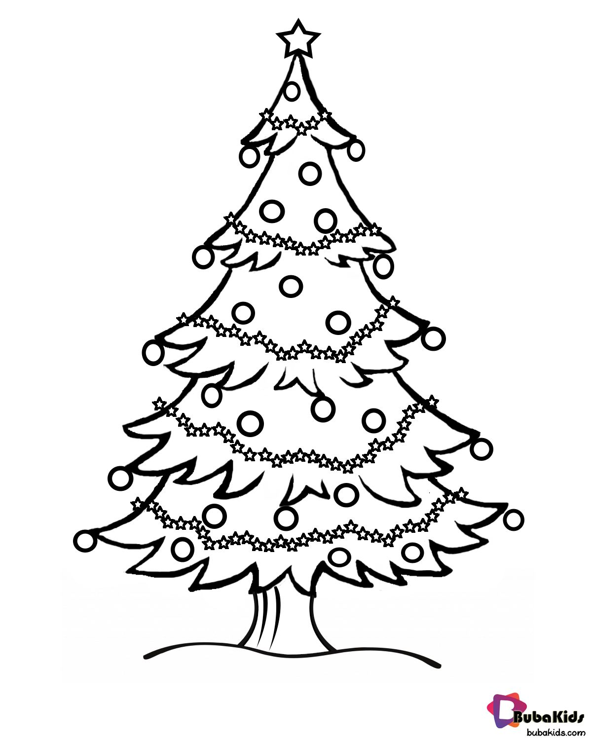Cool Christmas Tree Coloring Page Portraits